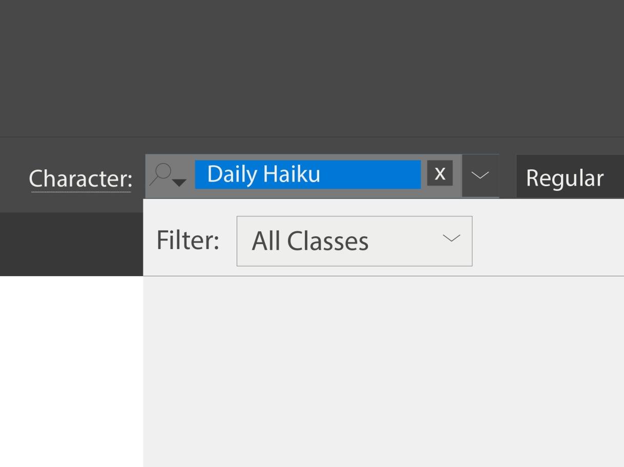 Daily Haiku: Fonts